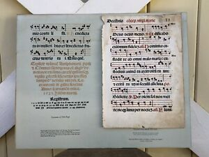 Original Leaf dated 1523 A.D. from the Biblical Library of Stanley S. Slotkin