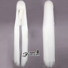 Long Straight 150CM White Anime Full Heat Resistant Cosplay Party Women Wig