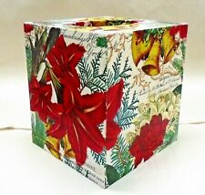 Made to Order, Handmade Decoupage Tissue Box Cover, Joyous Christmas