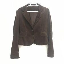 Express Design Studio Womens 10 Brown Corduroy Button Front Lined Blazer Jacket