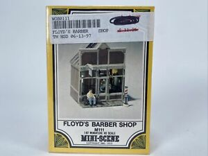 Woodland Scenics Floyd's Barder Shop Diecast HO M111 Mini Scene
