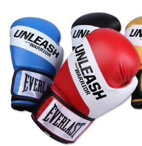 Everlast Unleash Your Warrior Boxing Gloves Bag Mitt Training 3Colors 10/12/14oz