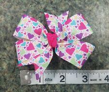 3inches Sweet hearts Pinwheel Hair bow nonslip Alligator Clip