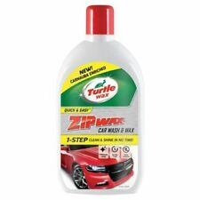 2 x Turtle Wax  0.5L Zip Wax Car Wash & Wax 500ml Added Carnauba Wax Car Care
