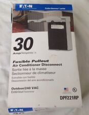 New Cutler Hammer 30 Amp Fusible Pullout A/C Discinnect DPF221RP