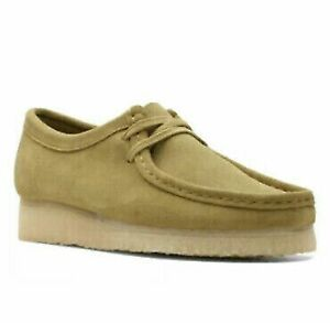 Clarks Originals Wallabee Khaki Suede Women's Shoes, UK 4, 4.5