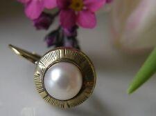 Antiker Ohrring einzelne Brisure 585° Gold echte Perle Jugendstil um 1920 O455