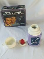 Vintage 1979 KING SEELEY STAR TREK Metal Lunch Box & Matching Color Thermos