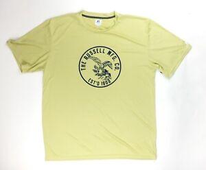 Russell Athletic Performance Training T-Shirt Men's XL Gold Navy Blue 629X2M1