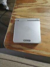 Nintendo GameBoy Advance, GBA SP AGS-001 Platinum Silver System - No Charger