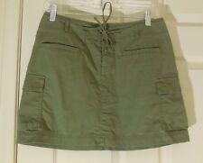 MOUNTAIN HARDWEAR 100% Cotton Khaki Green Cargo Skirt ~ Women's Size 6