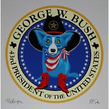George Rodrigue Blue Dog 43rd President Of The United States George W Bush White