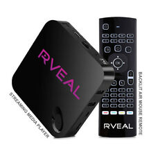 Rveal Streaming Media Player and Backlit Air Mouse Keyboard, Android TV Tuner