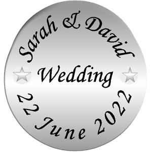 139 Personalised Silver Wedding invitation Envelope Seals