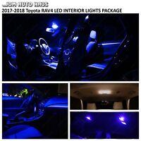 12x Full Blue Interior LED Lights Bulbs Package Kit Fits 2017-2018 Toyota RAV4