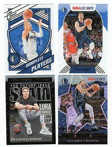 2020-21 Luka Doncic NBA HOOPS Slam #5, #18, #150, Donruss #16, LOT OF 4 CARDS
