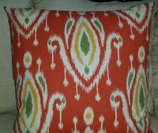 """Home Accent/Tempo Surat Ikat Coral Pillow Cover/$25.00 ea.2 Available  20"""" x 20"""""""