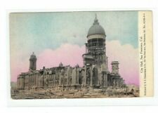 Circa 1906 San Francisco CA City Hall Ruins Appears to be After The Earthquake