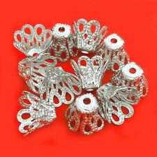 100 Metallperlen PERLENKAPPEN 7mm 14K vergoldet Perlen Spacer nenad-design AN467