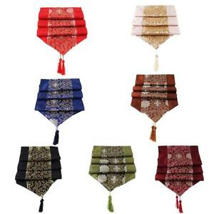 New Fashion Chinese Handmade Classic Silk Table Runner Cloth Decoration T