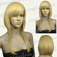 16 inch Hi_Temp Series Beige Blonde Shaggy cut Cosplay DNA Wigs 73086