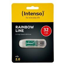 Intenso USB Stick Rainbow Line 32GB 2.0 Speicherstick 32 GB 3502480 transparent