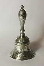 Solid sterling silver early Victorian dinner bell 1846 William Robert Smily VGC.