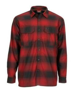 SIMMS COLDWEATHER LS SHIRT RED BUFFALO NEW WITH TAGS NWT SIZE XL $119.99 RETAIL