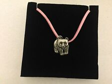 Panda PP-A40 Pewter Pendant on a PINK CORD Necklace