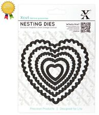 Xcut Metal Nesting Dies *SCALLOPED HEARTS* 5 Piece DoCraftsDie Cutting Heart