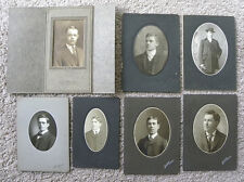 SET OF 10 PHOTOS PORTRAITS MEN FROM PGH AREA PA, WOOSTER, OH + TORONTO/BRANTFORD