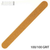 The Edge Nails Cushioned Washable Brown Coarse Nail File 100/100 GRIT - Acrylic