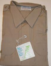 Vintage 1960s Unused Police Uniform Shirt! Long Sleeve/Epaulets! 2-Pocket 17, 31