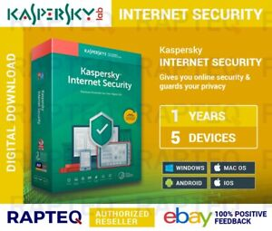 Kaspersky Internet Security 2021 5 Device 1 year (PC/Mac/Android) UK only