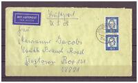 BRD, Luftpost MiNr. 355 x MeF Bad Driburg nach Flagtown, USA 23.02.1965