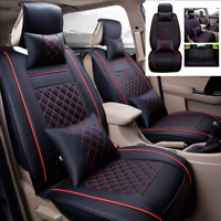 Luxury Car Seat Covers Universal for 5-Sit SUV Truck PU Leather Interior Cushion