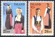 Islandia 1989 trajes tradicionales/Ropa/Postal cooperación 2 V Set (n27454)