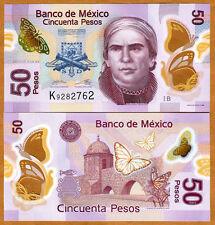 Mexico, 50 Pesos, 2012, POLYMER, P-123A, UNC > Redesigned