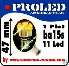 2 ampoule 11led orange culot compatible R5W R10W P21W