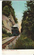 1911 The Rail Road Cut at Madison, IN Indiana PC