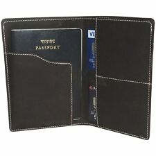 Hide&Sleek Real Hunter leather Brown travel document passport holder