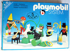 TRES RARE PLAYMOBIL BOITE 3513 1978 LES ARTISTES DU CIRQUE CLOWNS