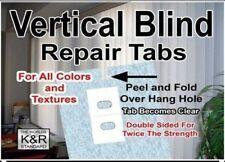 Vertical Blind Repair Tabs, 10 Tabs , SHIPS FAST