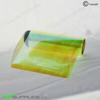 3 x A5 Sheets Chameleon Lime Yellow Tinting Film Headlight Fog Lights Tint Car