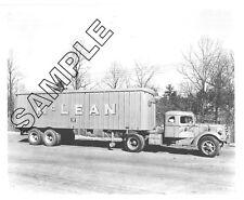 McLEAN TRUCKING MACK Truck EQ DIESEL & TRAILER, Winston-Salem, NC 8x10 B&W Photo