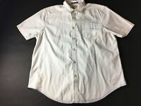 Tommy Bahama Jeans Mens White Front Pocket Button Front Shirt Size XL