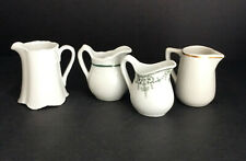 Group or Lot of 4 Restaurant Ware & Other Creamers One Bavaria Burley Co Mayer