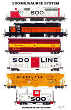 "Soo/Milwaukee System 11""x17"" Poster by Andy Fletcher signed"