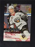 2018-19 UD Upper Deck CHL Star Rookies Exclusives #397 Yannik Valenti /100