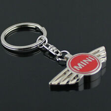 Key Chain Metal Keychain Key Ring oval frame Red for Mini Cooper